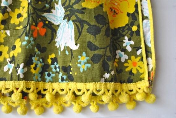 Floral painters smock apron - Bright colors