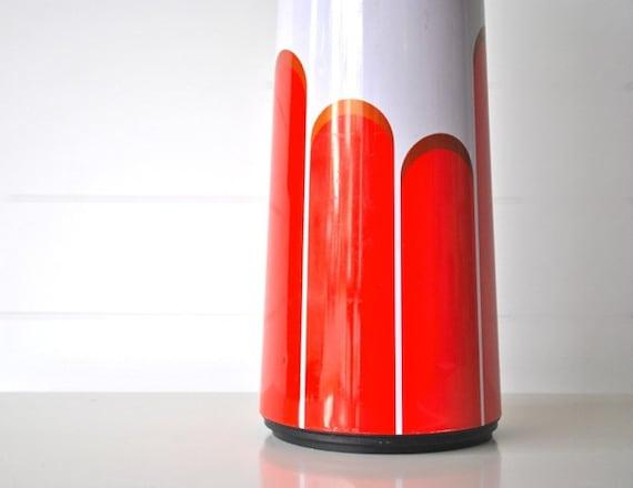 Retro red orange coffee carafe tangerine