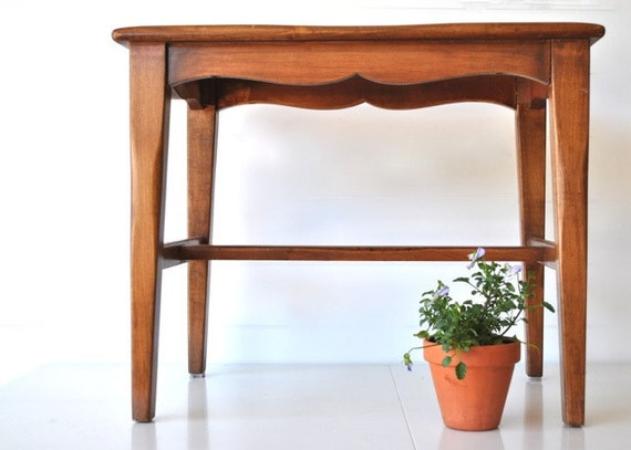 Mid century wooden bench, stool or little table