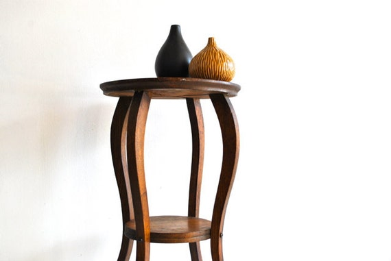 Petite Wooden Side Table - Rustic Vintage - Fall Autumn