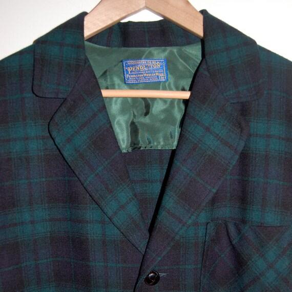 Black Watch Tartan Pendleton 49er Jacket Size M Reserved for Sean