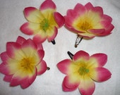 Pink and yellow flower clip