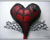 Valentines Day Brooch. Adelaide Spider Heart