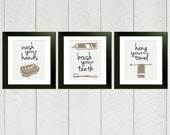 Bathroom Art Print - Set of 3
