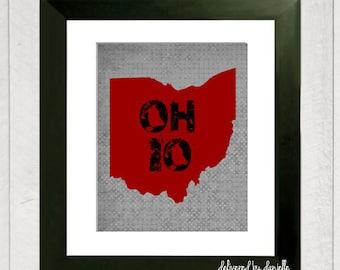 Ohio Art Print - 8x10