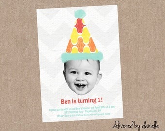 1st Birthday Invitation - Custom - Printable