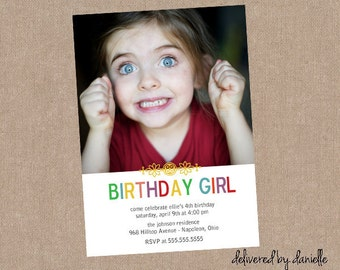 Kids Birthday Invitation - Custom - Printable