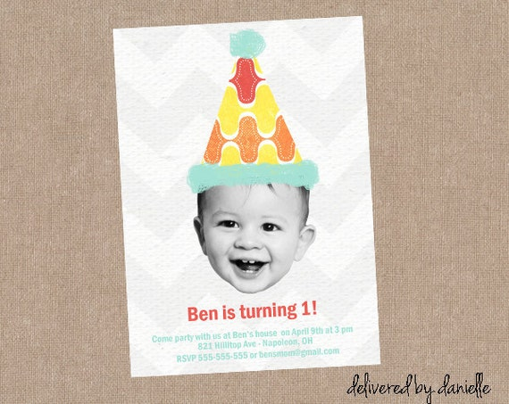 1st Birthday Invitation Custom Printable – Custom 1st Birthday Invitations