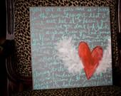 heartbeat - 12x12 original painting