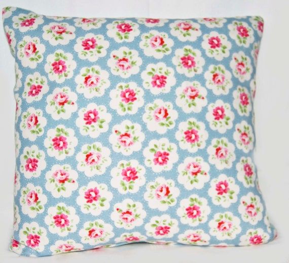 Throw Pillow  Shabby Chic Style UK Desinger Cath Kidston Provence Rose Fabric