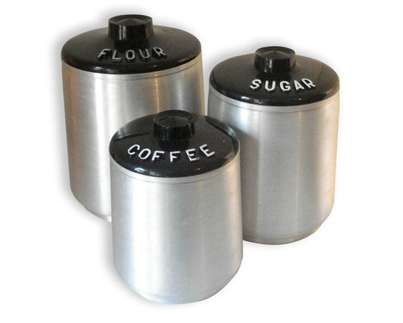Set of 3 Aluminum Canisters