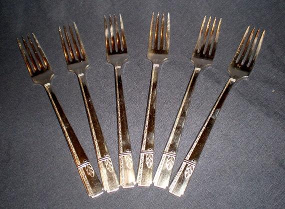 Oneida Heirloom Plate: Six Forks Grenoble Pattern 1938
