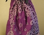 Purple Bandana Dress