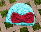 Newborn Crochet Baby Hat With Bow