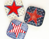 Stars and Strips, American Magnets, Fridge Magnets, Stars, Stripes, Red White Blue, 4th of July, Organization