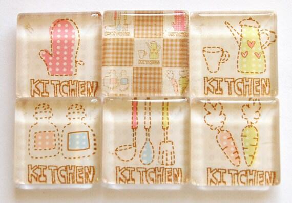 Kitchen Magnets, glass magnets, fridge magnets, Food Magnets, Gift for her, Kitchen, Kitchen Fridge, Gift for mom