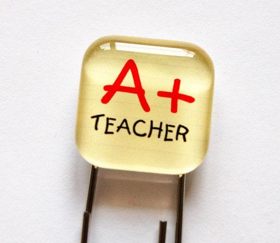 Glass Bookmark, Teacher Bookmark, book mark, gift for teacher