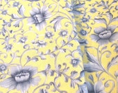 Beautiful Destash Yellow And Blue Provincial Style Fabric