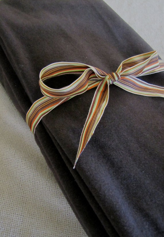 SALE HALF PRICE  Dark Chocolate Brown Lane Merino Wool Melton Yardage