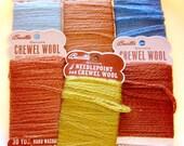 Vintage Crewel Wool Needlepoint Thread 6 skeins