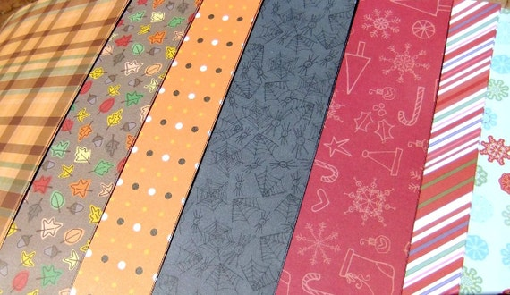 20 Sheets 6x6 Assorted Scrapbook Paperstock