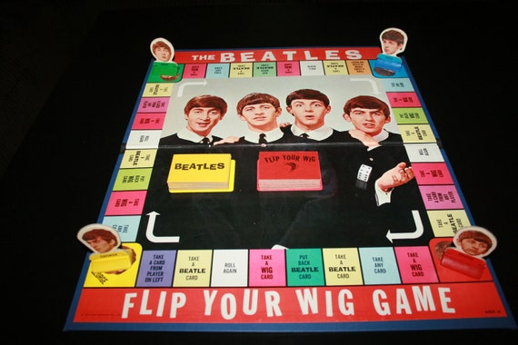 "RESERVED For David - Rare 1964 The Beatles ""Flip Your Wig"" Board Game - Milton Bradley - BrandosFunkyFinds"