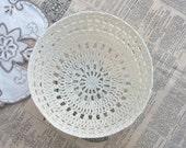 Items similar to Decorative Crocheted Bowl/Basket, Trinket ...