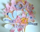 MOM, painted tweet wreath