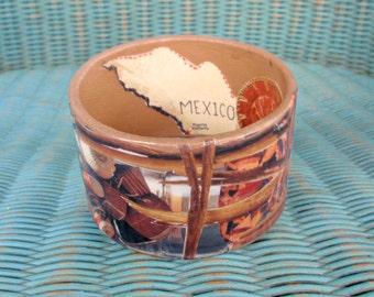 Mexico Decoupage Bracelet / Bangle / Cuff