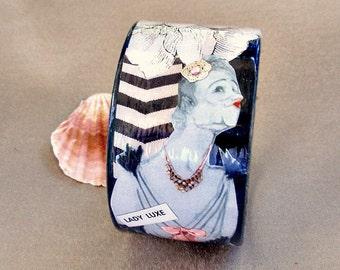 Lady Luxe Decoupage Bracelet / Bangle / Cuff