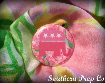 Lilly Inspired Republican Pin Version 2