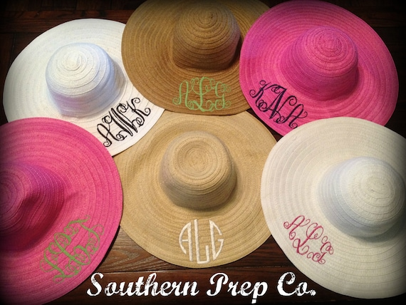 Custom Monogrammed Wide Brim Hat