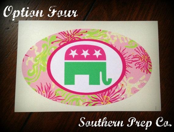 Preppy Republican Bumper Sticker