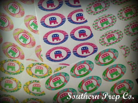 Preppy Republican Stickers Pack of 10