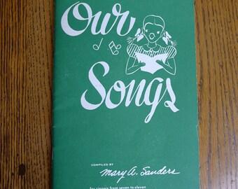 Vintage 1942 Children's Song Book