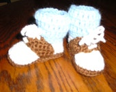 Custom Baby booties - saddle oxfords