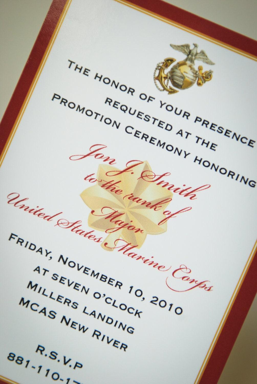 Marine Officer Retirement Invitation Announcement