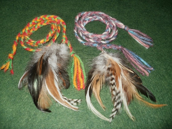 DIY Cat Toys Kit, 2 Feather Teasers, Eco-Friendly, Humane, Stocking Stuffer, DIY Gifts, Under 10 dollars, (makes two)