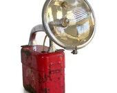Vintage 1940s red Big Beam No. 211 flashlight