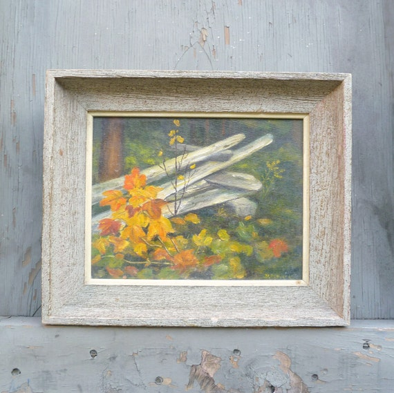 1960s Signed Oil Painting- Fall Scene