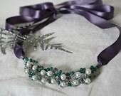 Sea of Dreams - Pearl ribbon necklace