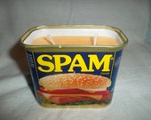 Pumpkin Spice Soy Candle in an Upcycled Spam Can
