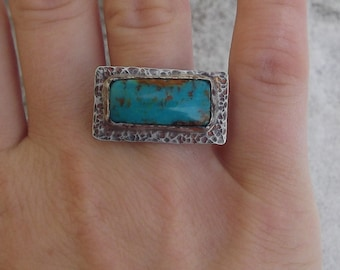 SALE Rustic Turquoise Ring - Size 5 1/2 Ring