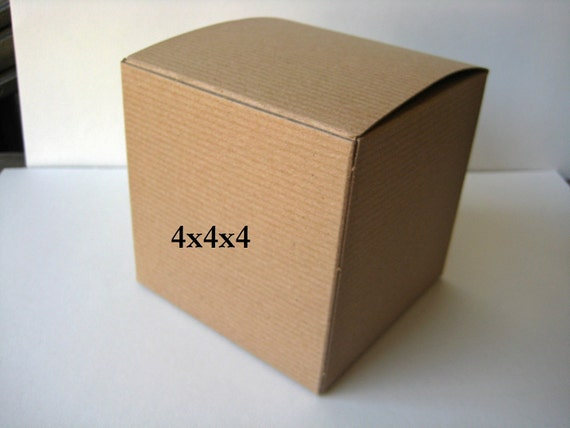 Kraft Gift Boxes - 9 pcs 4x4x4 ornaments, foods and more