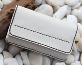 Leather iPhone case in aglow white color