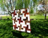 Modern Pinwheel Quilt - Wall Hanging - Rusty Windmills