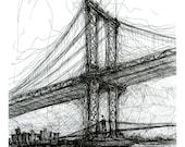 Manhattan Bridge from Rutgers St. New York City