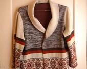 1970 shawl collar holiday sweater