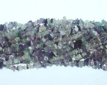 "Fluorite Chip Gemstone Bead - 34"" Strand"