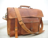 Leather Messenger Bag Office bag Laptop Bag 17 Inches Long 13 Inches Height  MACBOOK